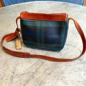 Vintage Polo Ralph Lauren Plaid Leather Purse